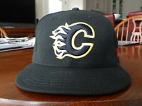 Calgary Flames exact fit 7 3/8 size ball cap
