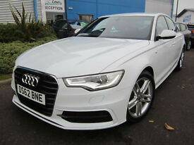 Audi A6 Saloon 2.0TDI ( 177ps ) ( C7 ) 2013MY S Line White