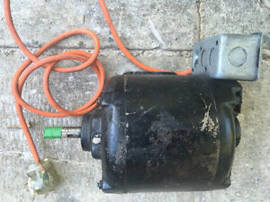 "Electric motor totally enclosed 1/3HP 120vac 5/8"" shaft"
