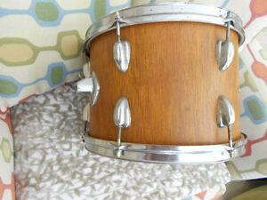 "13.5"" Wooden Tom Drum & Sticks-$20 Takes All"