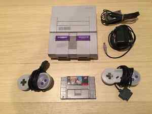 SNES System in Excellent Condition with 2 Controllers, Spiderman