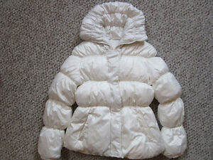 Winter jacket girls white size 10/12