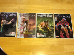 MARVEL COMICS - DEATH OF WOLVERINE - COMPLETE SET OF FOUR London Ontario image 1