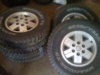 4 16 inch tires on Aluminum rims