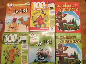 French children's educational workbooks - all brand new!!