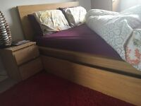 IKEA double bed set nearly new