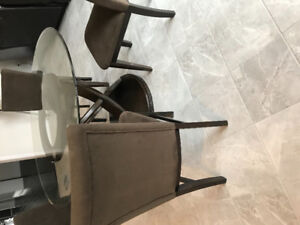 4 Dining Chairs - Brown