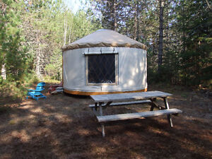 Private Couples Waterfront Yurt - Few dates are still available