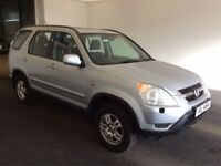2003 03 Reg Honda CR-V 2.0 Sport, Automatic, 4 Wheel Drive, Petrol, Metallic Silver, MOT June 2018