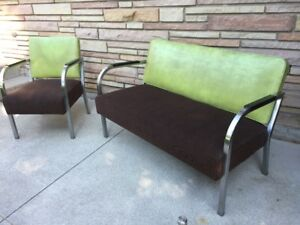 Loveseat and Chair - Mid Century Modern
