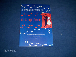 A WALKING TOUR OF OLD QUEBEC-TOURISM GUIDE-ENGLISH-1950/60S