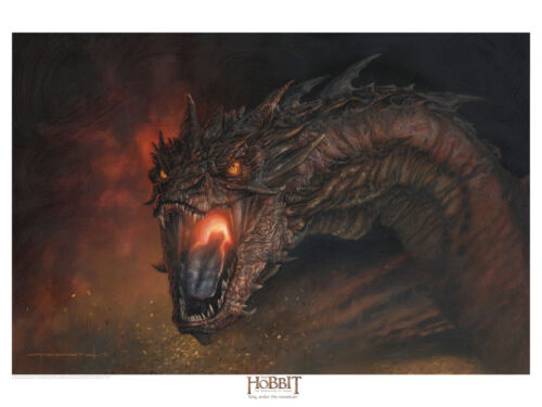 Smaug Lithograph -The Lord of the Rings by Jerry VanderStelt