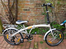 Nearly New, 6-speed Folding Bike. Shimano gears, kickstand and luggage