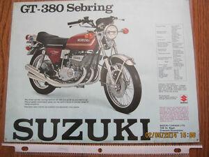 Suzuki GT-380 Sebring and T-500 Titan Spec Sheet Sarnia Sarnia Area image 1