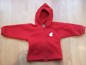 MEC Kids Fleece Hoodie - Size 2, Red