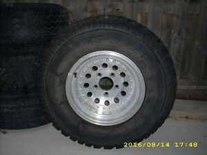 aluminium rims and tires