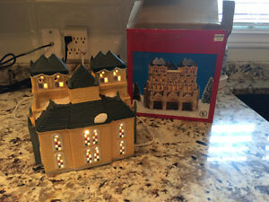 Dickens collection hand painted lighted cathedral