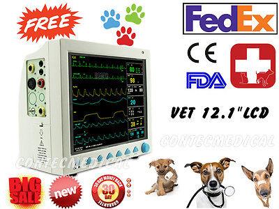 Fda Ce Vet Veterinary Patient Monitor 6 Parameter Icuecgnibpprspo2tempresp