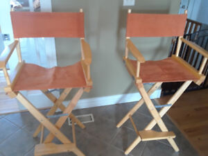 Directors chair style bar chairs
