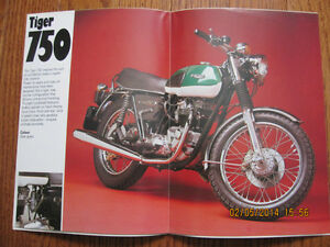 Triumph 750 Tiger, Bonneville and Saint Spec Pamphlet Sarnia Sarnia Area image 2