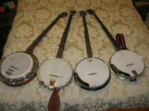 A variety of Long Neck Banjos price range from $400 to $1400