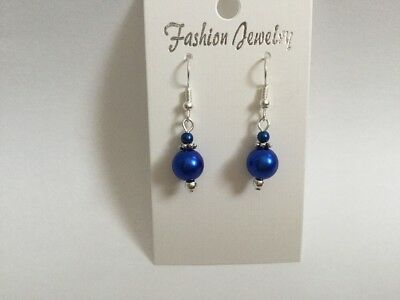 Blue Matching Bridesmaids Earrings Affordable Wedding Favour - Affordable Wedding Favors