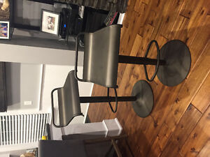 2 Beautiful Metal Bar Stools - One of a Kind
