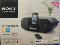 Sony iphone 5 dock with CD player
