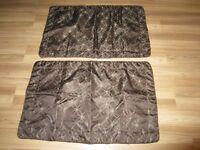 BROWN DECORATIVE PILLOWCASES - $4.00 for BOTH