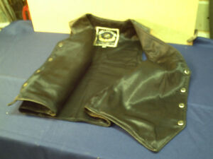 Docs leathers casual leather motorcycle riding vest