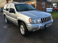 J2004 Jeep Grand Cherokee 2.7 CRD auto Limited. 82000 miles. Bargain.