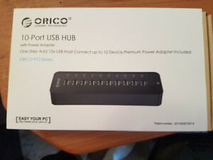 ORICO 10-Port SuperSpeed USB 3.0 Hub with 36W Power Adapter