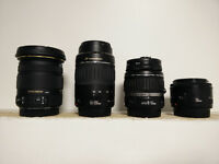 Sigma and Canon Lenses