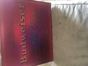 Budweiser tin signs, great for a home bar or man cave