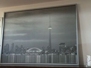 CN tower classic pic with matte grey frame