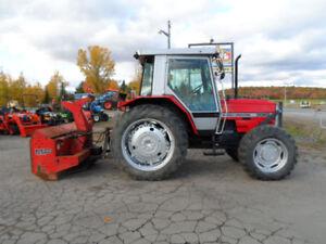 tracteur, 4x4, cabine, souffleur, diesel, massey ferguson, mf