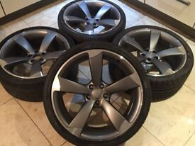 """20"""" GENUINE AUDI RS5 RS4 ROTOR ALLOY WHEELS 9J CONCAVED A5 S5 A4 S4 RS3 A6 RS6"""