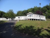 Luxury caravan at Haggerston castle