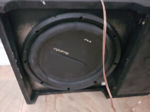 10 inch Phoenix gold subs ,sub box and amp