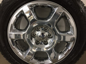 """20"""" stock ford 6 bolt rims and winter tires"""