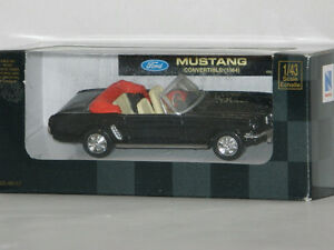 New Ray 1/43 Scale 1964 Mustang Convertible Diecast Car Black