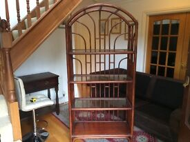Stunning Arched Bamboo Bookcase/Display Shelf Unit