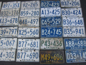 OLD CAR LICENSE PLATEs. Singles FOR Only $10.00