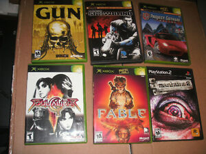 original xbox & PS2 games