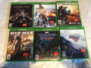 6 XBOX ONE GAMES- Will trade for cds- Please Read