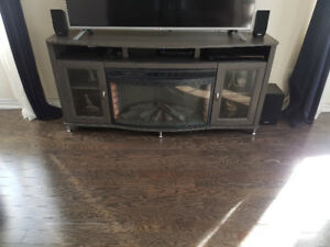 Leons Fireplace TV stand/console 2 yrs old, Excellent Condition!