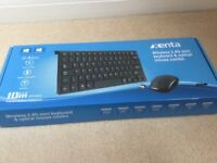 Xenta wireless keyboard and optical mouse