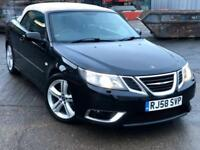 Saab 9-3 2.8 V6 Aero Spec EDS ANNIVERSARY Convertible Petrol BLACK 72k Auto for sale  Barking, London