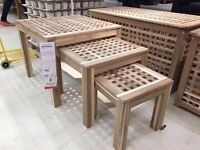Ikea nest of tables SKOGHALL