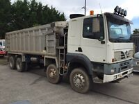 FODEN 8X4 BULK ALUMINIUM BODY TIPPER WITH SLEEPER CAB, 400HP CAT ENGINE.